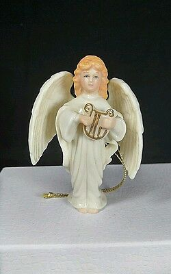 Lenox Angel Playing Harp Ornament Miniature figurine Christmas Ornament