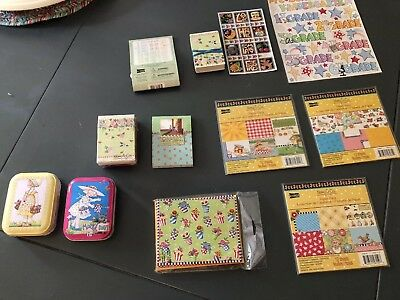 Mary Engelbreit Lot - Scrapbook And Gift Items 13 Items - Most New In Package