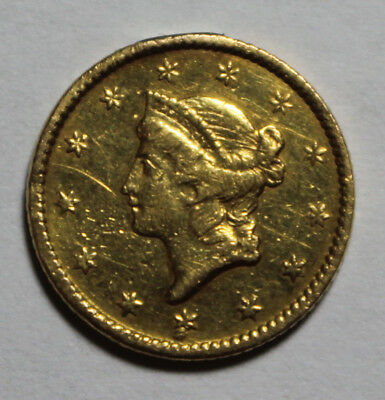 1852 $1 Gold Liberty Coin BL43 Jewelry Piece