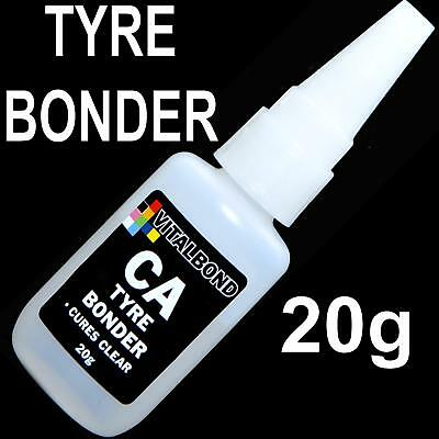 Vitalbond CA 20g Tyre Bonder Super Glue Cures Clear Model Plastics,Metal,Wood