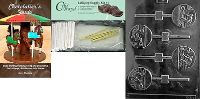 Cybrtrayd Tennis Lolly Chocolate Mould with Chocolatier's Bundle, Includes 25