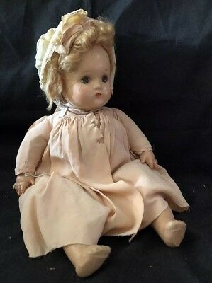 Vntg.Composition Mad. Alexander Baby McGuffey Doll Tagged Repair/Restore~