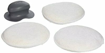 "Carrand 40122 The Gripper Terry 5"" Round Applicator Pad"