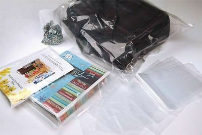 9x12 CLEAR POLY PLASTIC LAY-FLAT BAGS SHIPPING APPAREL OPEN TOP 1MIL FDA LDPE
