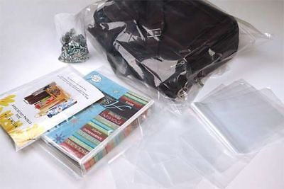 18x24 CLEAR POLY PLASTIC LAY-FLAT BAGS PACKING SHIPPING OPEN TOP 1 MIL FDA LDPE