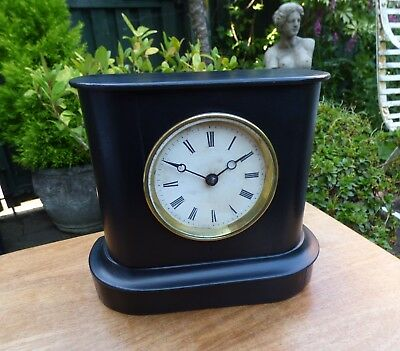 Nice Victorian French Wooden Mantle Clock.