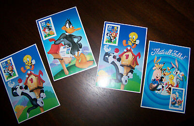 LOONEY TUNES COLLECTOR STAMPS==MINT Sylvester, Tweety, Daffy Duck, and Porky Pig