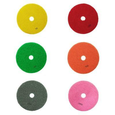 6pcs 3inch Diamond Polishing Pads Wet/Dry Granite Marble Stone Concrete