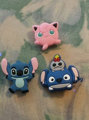 Lot of 3 Lilo & Stitch charms for Crocs clog shoes or wristband bracelet. New.