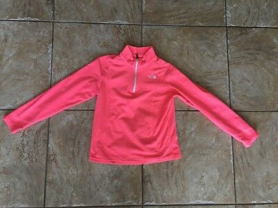 The North Face Girls Fleece Jacket Sz L(14/16) Pink & White