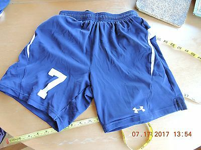 Under Armour youth's 100% polyester navy blue activity/sports shorts size YMD