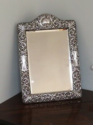 Large 1896 Solid Silver Dressing Table Easel Mirror By Zimmerman. Priced To Sell