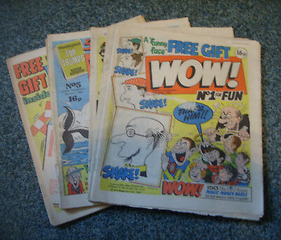 WOW! COMICS No.s 1-10 ( LIKE WHOOPEE!,BUSTER ETC)