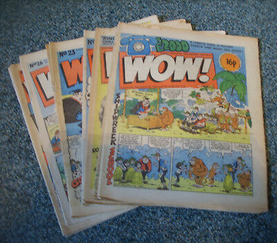 WOW! COMICS x 10  No.s 11,12,14,15,23,25,26,27,29 & 30 ( LIKE WHOOPEE!,BUSTER )