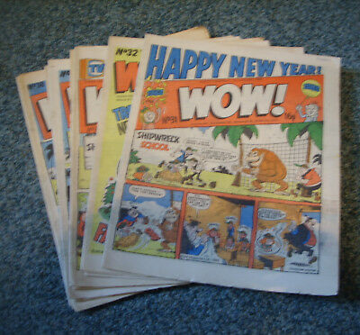 WOW! COMICS x 10  No.s 31-40 ( LIKE WHOOPEE!,BUSTER )