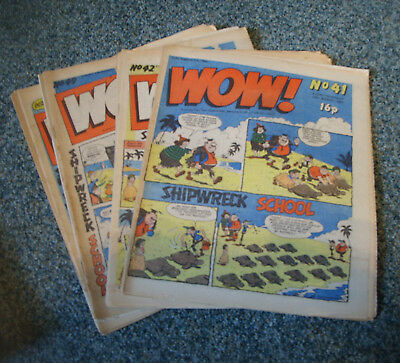 WOW! COMICS x 10  No.s 41,42,43,45,49-54 ( LIKE WHOOPEE!,BUSTER )