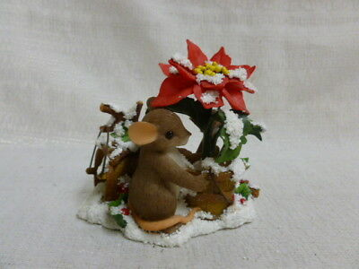 Charming Tails You Add Color To The Season 87/156 Christmas Mouse New In Box