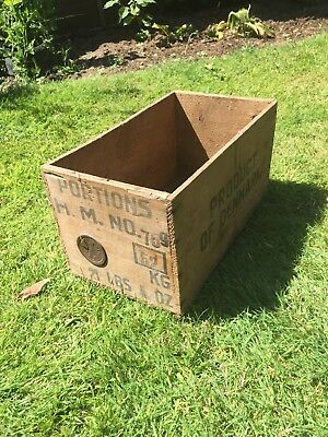 antique vintage wooden crate box COLLECTION ONLY PLEASE