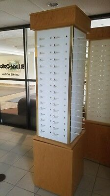 optical displays, used but excellent, each rotating display holds 128 frames.