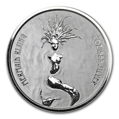 2018 Fiji $1 Mermaid Rising 1oz Silver Coin - Free Postage