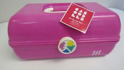 Caboodles Case Makeup Organizer On-The-Go-Girl Cosmetic For Train Or Travel Pink