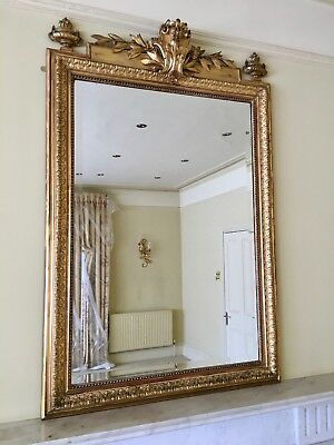 Genuine Antique French Gilt Wall Mirror, Dated Approx 1880