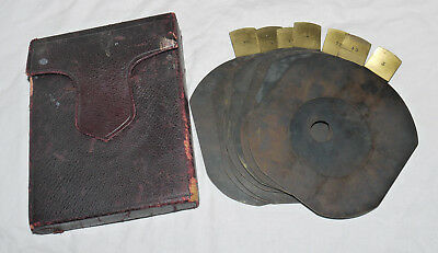 Dallmeyer Waterhouse Stop Set In Pouch For Vintage Plate Camera
