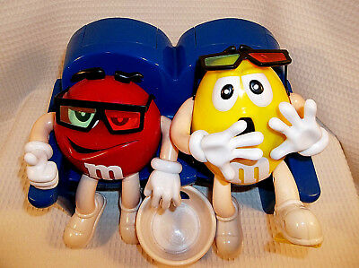 M & M's At The Movie In Theater Seats Candy Dispenser Red & Yellow Plain Peanuts