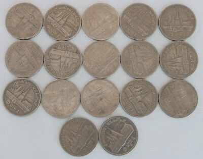 1 Baht Thailand 2525 (1982) Coin Lot Of 17 World Foreign Combined Shipping C33