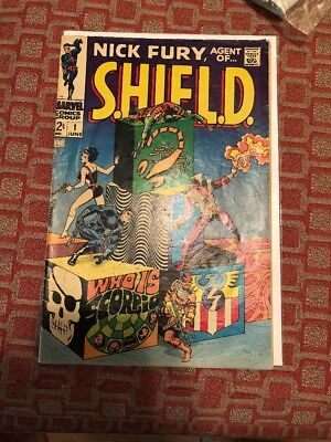 Nick Fury Agent of SHIELD #1- MARVEL 1968