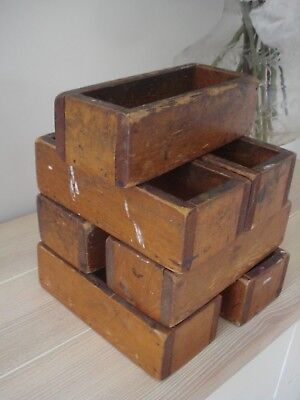 Antique Wooden Pine Pencil Boxes From an Old School House