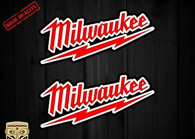 Pegatina Decal Sticker Autocollant Adesivi Aufkleber 2 X Milwaukee Tools