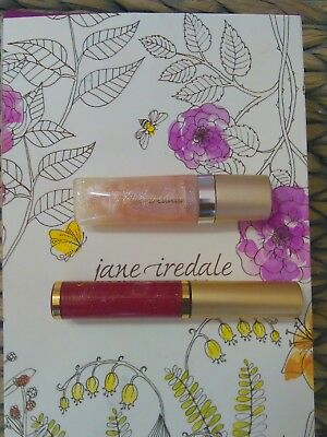 Set of 2, Jane Iredale PureGloss Lip Gloss in Cherry Sparkle and Lovely Bubbles.