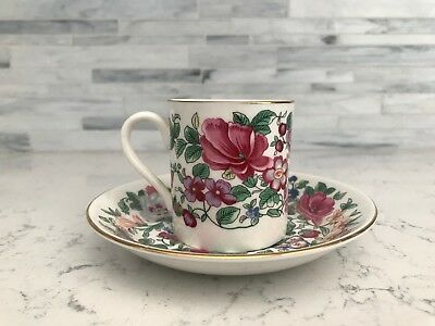 VINTAGE FINE BONE CHINA  CUP AND SAUCER- ENGLAND Crown Staffordshire
