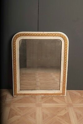 Antique 19th C French Foxed Glass Mirror