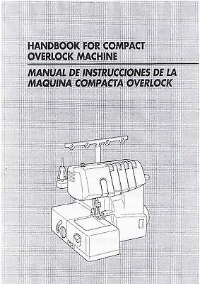 Brother 1034D 1134DW 1634D DZ1234 Serger Overlock Users Guide Instruction Manual
