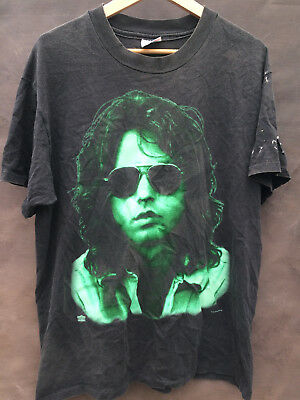 vtg 90s JIM MORRISON The Doors t shirt USA distressed made in USA L/M