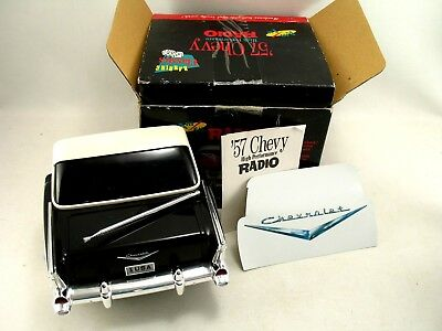 Banning Classics Black '57 Chevy Bel Air am fm Radio With Box Dated 1989