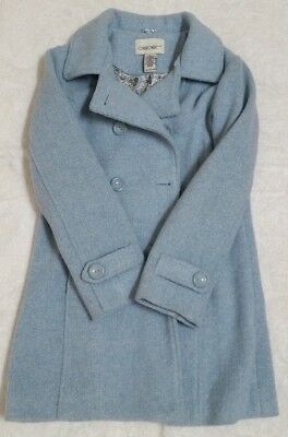Girls/Youth Light Blue Cherokee Double Breasted Coat Size Large