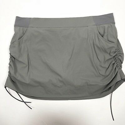 Columbia Women's Anytime Casual Skort Size 2X Gray Omni-Shield Repellent