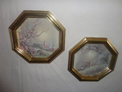 Home Interiors 2pc Set Octagon '' Scenes '' Pictures   Gougeous