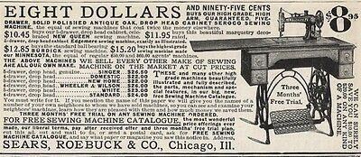 1903 Ad Sears, Roebuck & Co. Treadle Sewing Machine $8.95 Prices of Other Brands