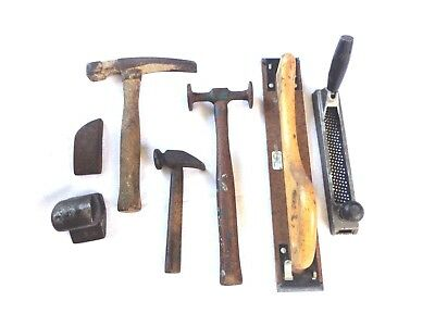 Lot of Old Vintage Auto Body Dollies & Hammers & 2 Sanders