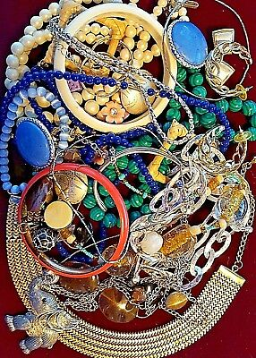 Mix Lot Huge Vintage To Now Jewelry Lot Estate  Unsearched Untested.  Nice Lot