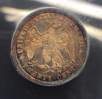 1878 Proof 20 Cent Piece ANACS PF63 Rare LOW MINTAGE total 600 Minted