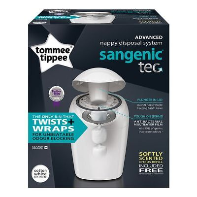 NEW Tommee Tippee Sangenic Tec Nappy Disposal Bin