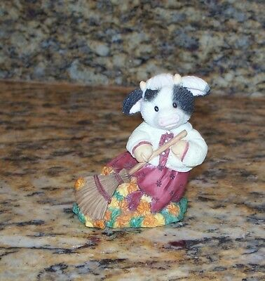 Enesco Mary's Moo Moos Cow Fall Figurine November Autumn Be In Pictures 257567