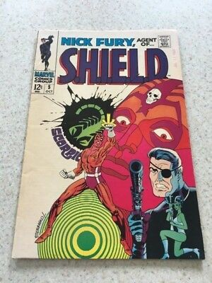 Nick Fury:Agent Of Shield  5  VF-  7.5  High Grade  Jim Sterenko Art
