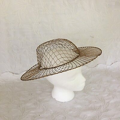 Copper Colored Wire Hat Form Functional Or Decorative