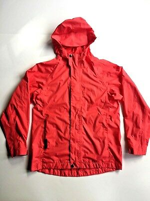 White Sierra Youth Trabagon Raincoat Shell - Child Size M - Pink Coral